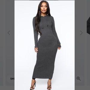 Fashion Nova Hooded Maxi Dress